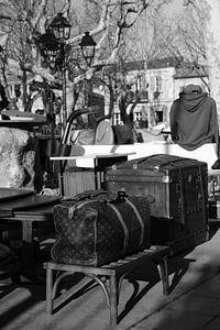 De Markt in Saint-Tropez op Place des Lices van