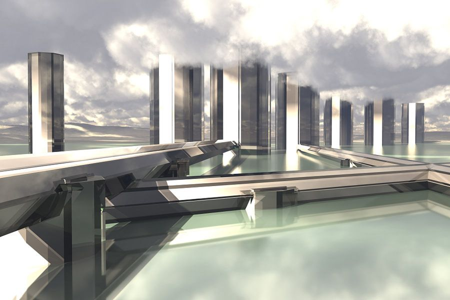 Architectuur Minimalisme 2 van Max Steinwald