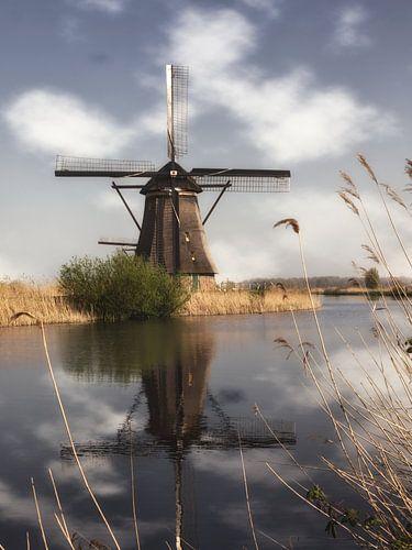 Een molen in Kinderdijk van