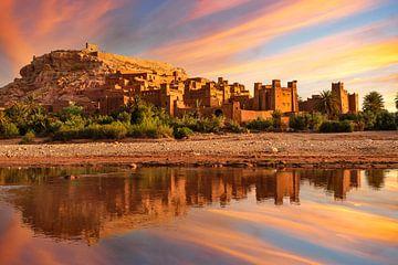 UNESCO-werelderfgoed Kasbah Ait-Benhaddou in Marokko van Markus Lange
