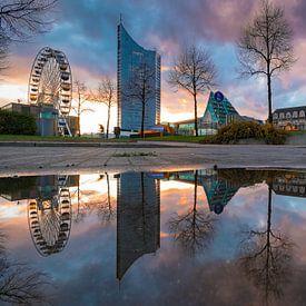 Augustusplatz in Leipzig van Martin Wasilewski