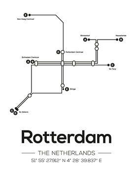 Lignes de métro de Rotterdam sur