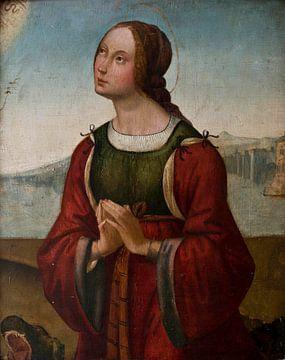 Heilige Margarete im Gebet, Lorenzo Costa