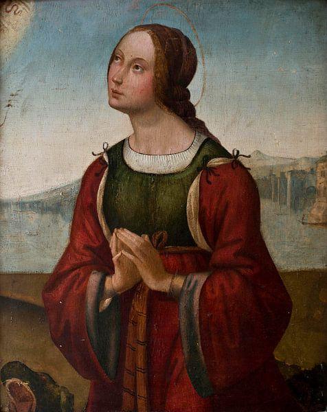 Heilige Margarete im Gebet, Lorenzo Costa von Meesterlijcke Meesters