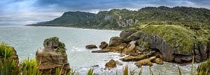 Baai bij de Pancake rocks, Nieuw Zeeland van
