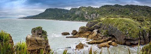 Baai bij de Pancake rocks, Nieuw Zeeland