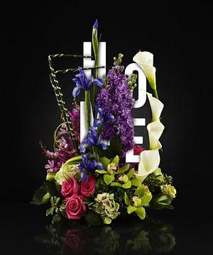 Home sweet home bloemen stilleven van Bert Hooijer