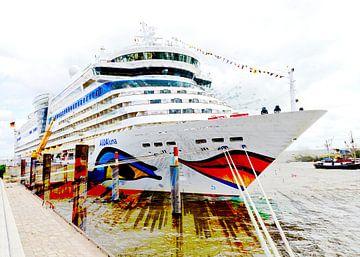 Cruiseschip op de kade van Leopold Brix