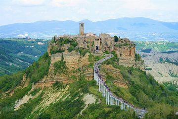Civita di Bagnoregio in Italie van Nicole