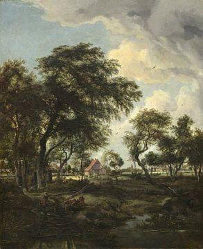 Ein Bauernhof im Sonnenlicht, Meindert Hobbema