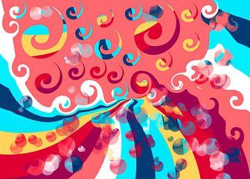 Sommer swirls van Rosi Lorz