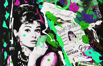 "Audrey Hebprun ""Telephone"" van Kathleen Artist Fine Art"
