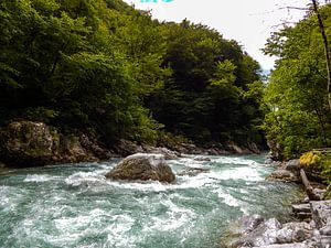 Das Wildwasser der Tolminka van
