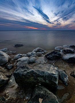 Zicht over het IJsselmeer van Michel Knikker