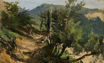 Carlos de Haes-Pad im Wald, Antike Landschaft