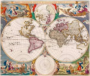 New and Very Accurate Map of the World 1658