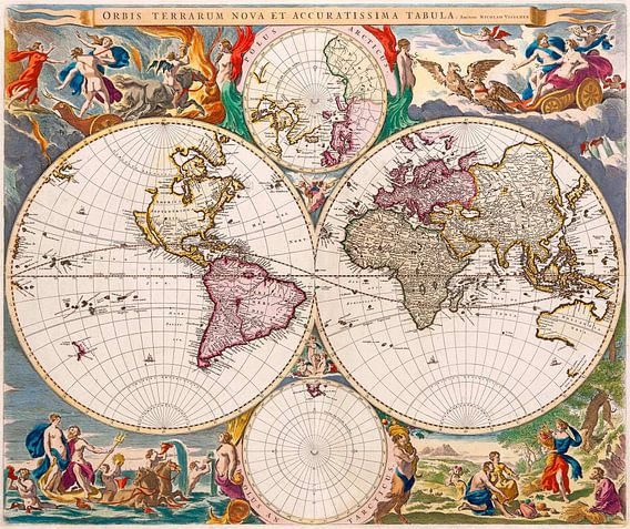 New and Very Accurate Map of the World 1658 van Meesterlijcke Meesters