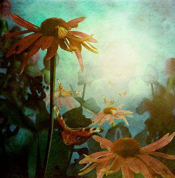 Landschaft mit Schmetterlingen von Marijke van Loon