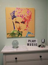 Klantfoto: The famous pop singer Madonna drawing van Nisangha Masselink, op canvas