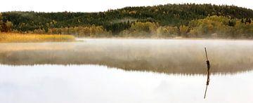 Nebelsee in Schweden van Heike Hultsch