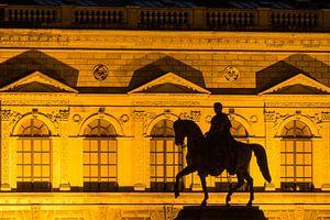 Horseman sculpture in front of the Zwinger in Dresden