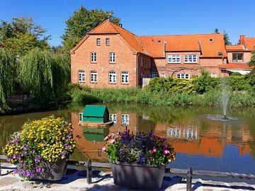 Bij de stadsvijver in Lütjenburg van Gisela Scheffbuch