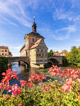 Oud stadhuis in Bamberg in de zomer van Werner Dieterich