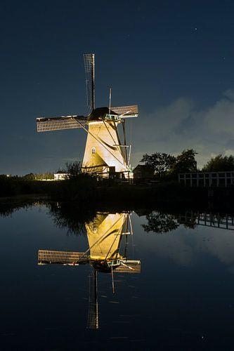 De windmolens bij Kinderdijk