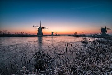 Sonnenaufgang Kinderdijk 6 von Henk Smit
