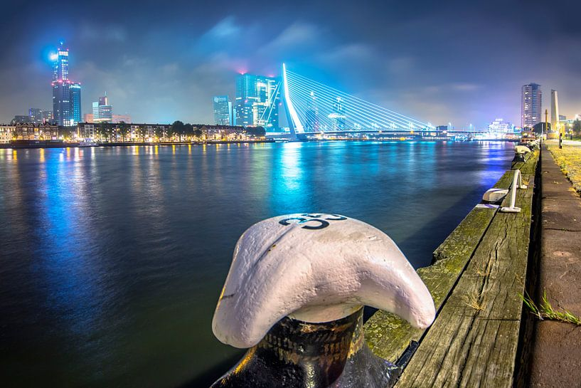 Avondlicht van Rotterdam van Dennis Vervoorn