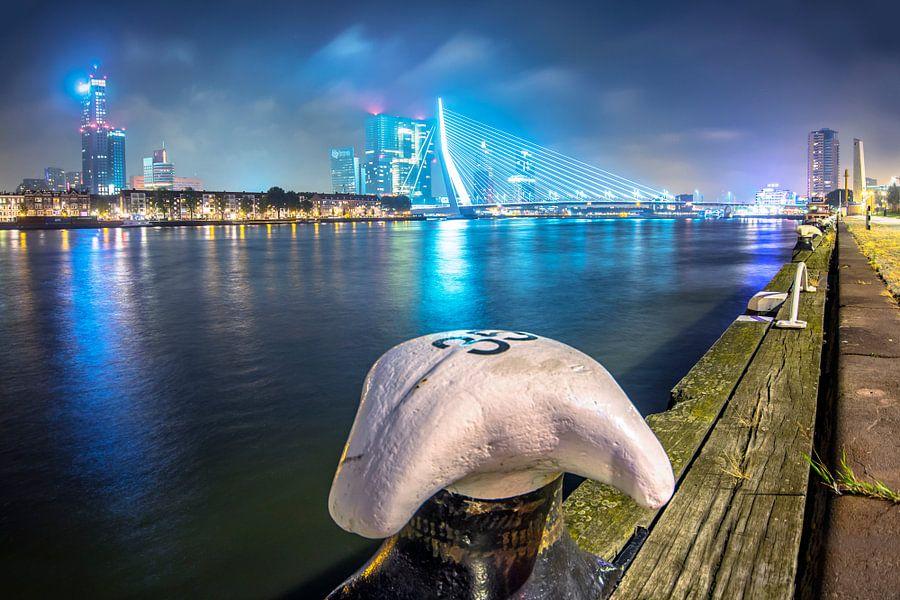 Avondlicht van Rotterdam