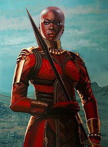 Danai Gurira as Okoye schilderij