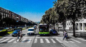 Straat in Verona Italië van Joke te Grotenhuis