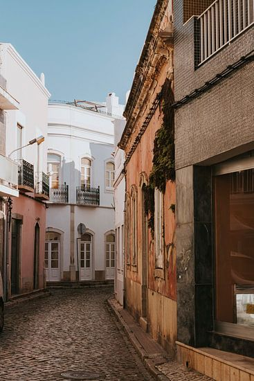 De straten van Olhão, Algarve Portugal