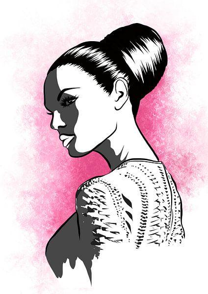 Schönheit im Schatten Illustration von Janin F. Fashionillustrations