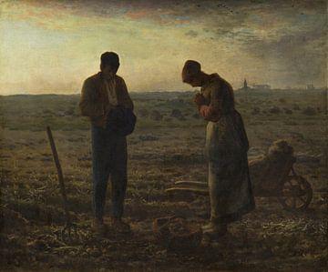 The Angelus, Jean-François Millet von Meesterlijcke Meesters