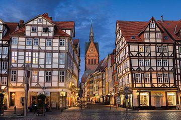 Oude binnenstad van Hannover van Michael Abid