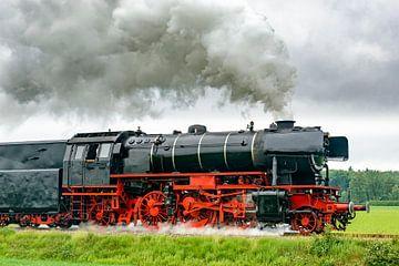 Oude stoomlocomotief op het platteland van Sjoerd van der Wal