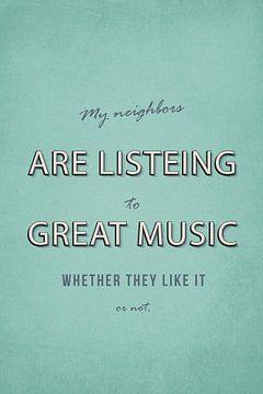 Meine Nachbarn hören gute Musik sur Felix Brönnimann