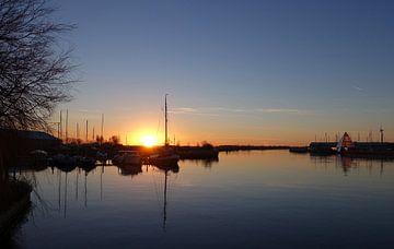 Prachtige zonsondergang in Stavoren