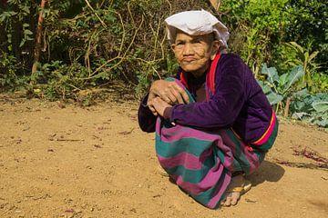 Shan vrouw, Kyaukme, Myanmar van Annemarie Arensen