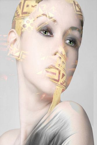29. Vrouw, silhouet, portret, Diva. van Alies werk