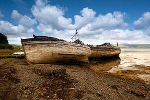 Oude vissersboten - Isle of Mull - Schotland