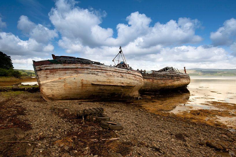 Oude vissersboten - Isle of Mull - Schotland van Jeroen(JAC) de Jong