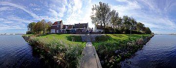 Panoramisch gezicht op Oud-Velsen (14 Oktober 2018) van Eric Oudendijk