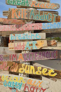 Beach signs van Wim van Berlo