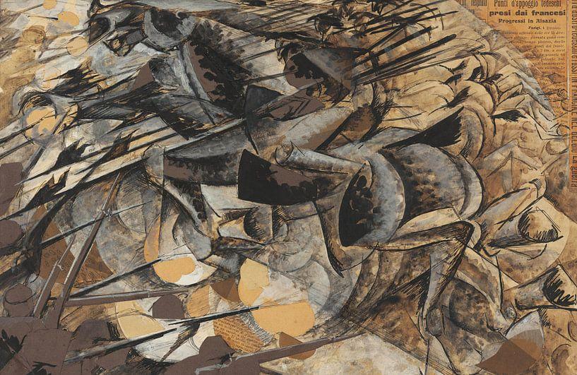 Umberto Boccioni Ladung Lanzenreiter von finemasterpiece