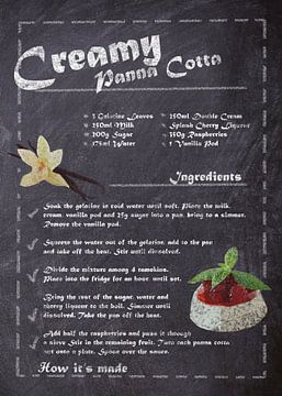 Recipe of Dessert - Panna Cotta van JayJay Artworks