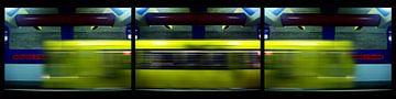 Triptychon Zugdurchfahrt von Bert Burkhardt