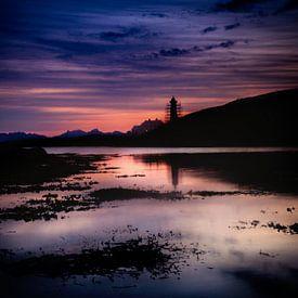 Zonsondergang in het noorden van Noorwegen van Hamperium Photography